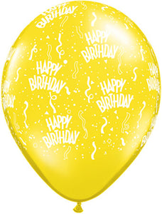 Happy birthday yellow- Latex balloon