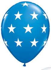 Blue and white stars - Latex balloon