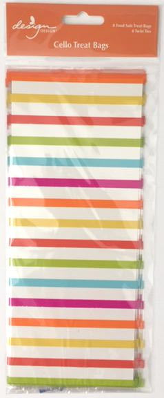 Bright stripes treat bags