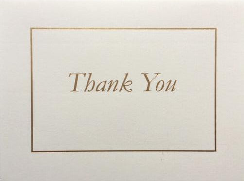 Thank you classic note cards