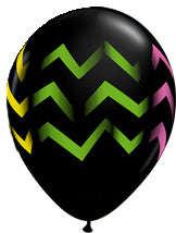 Colorful chevron stripes - Latex balloon