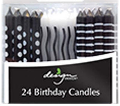 Birthday candles - Black & white
