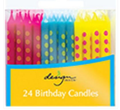 Birthday candles - Bright dots