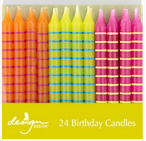 Birthday candles - Bright stripes