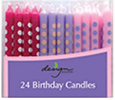 Birthday candles - Pastel dots