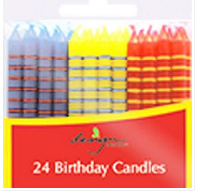 Birthday candles - Primary stripes