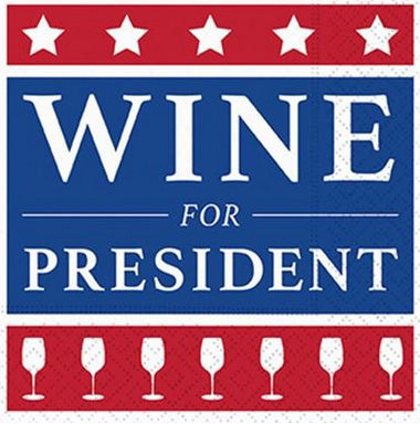 Beverage napkins - Wine for President