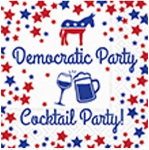 Beverage napking - Democratic party