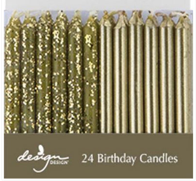 Birthday candles - Metallic gold