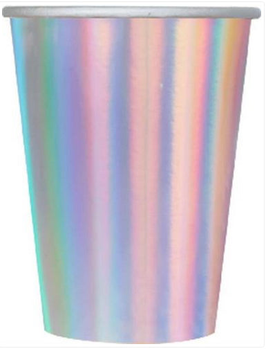 Iridescent Paper Cups - Tableware