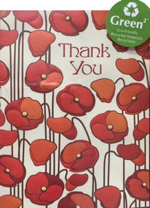 Seamless Poppies - Thank you boxed notes