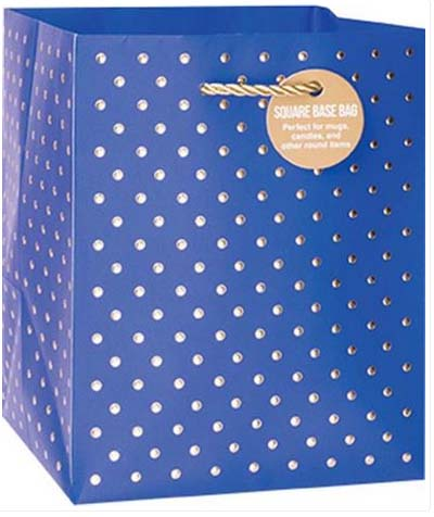 Gold Swiss Dots Blue - Small Tote bag