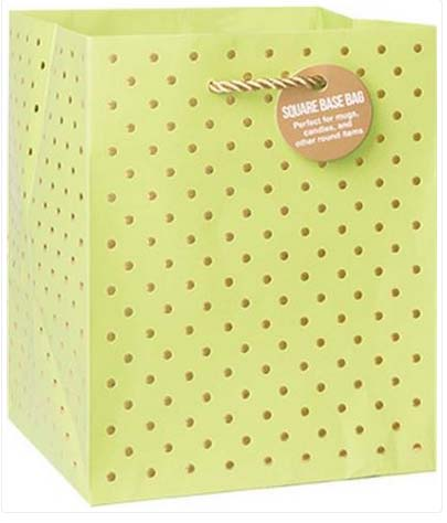 Gold Swiss Dots Lime - Small Tote bag