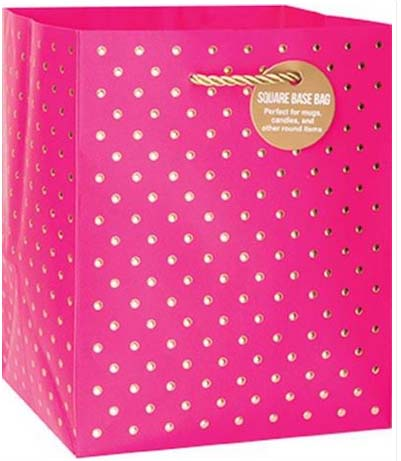 Gold Swiss Dots Magenta - Small Tote bag