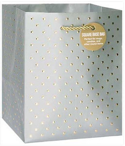 Gold Swiss Dots Silver - Small Tote bag