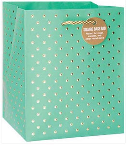 Gold Swiss Dots Turqoise - Small Tote bag
