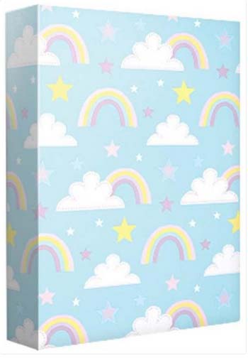 Rainbow and Stars - Wrapping paper