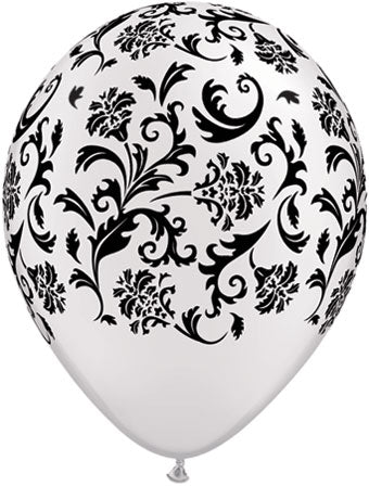 Damask pearl white - Latex balloon