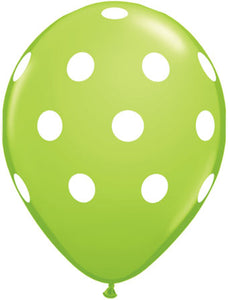 Dots white kiwi - Latex balloon