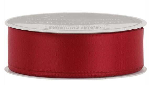 Wine Red Satin Ribbon