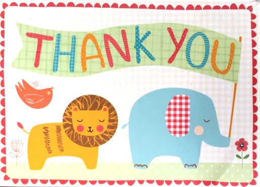Circus animals - Thank you boxed notes