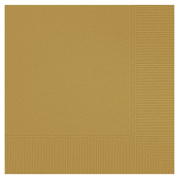 Beverage napkins - Gold