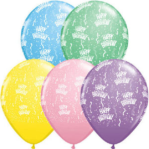 Happy Birthday Pastel - Latex balloon