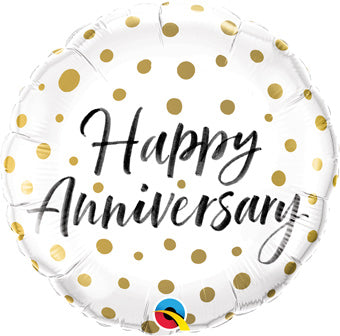 Happy Anniversary Gold Dots