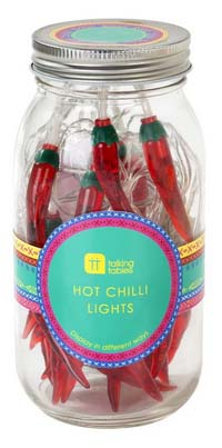 Red Chili Pepper Patio String Light Set