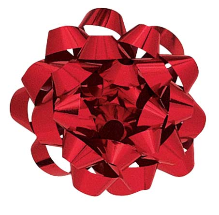 Metallic Red Bow - Medium