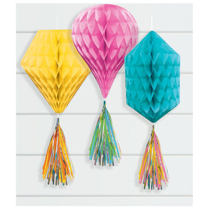 Mini Honeycombs w/ Tassels - Multi