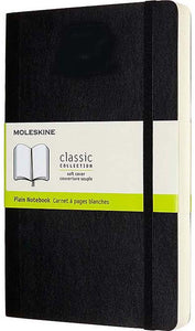 Black Plain Small Notebook Soft Cover