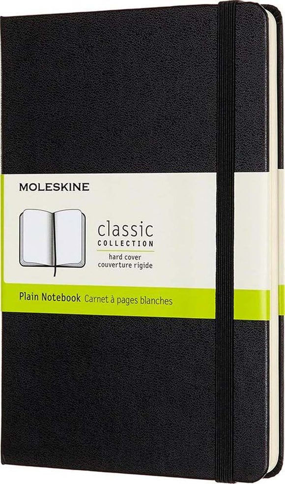 Black Plain Small Notebook Hard Cover