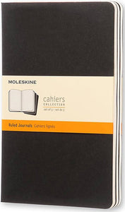 Cahier Black Ruled Journals Soft Cover - Set of 3