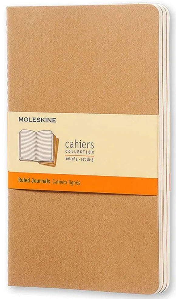 Cahier Ruled Journals Soft Cover small - Set of 3