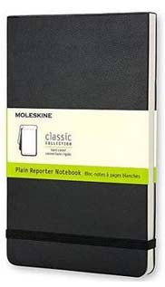 Black Plain Reporter Small Notebook Hard Cover