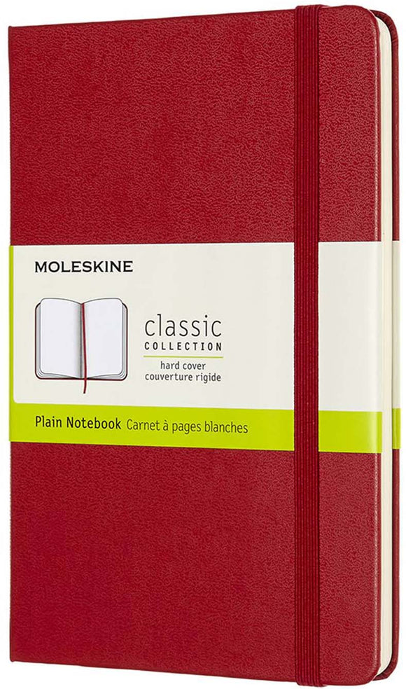 Red Plain Small Notebook Hard Cover