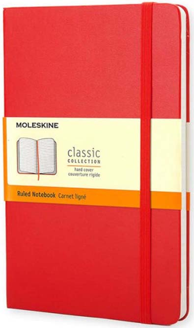 Red Ruled Small Notebook Hard Cover