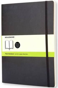 Black Plain Notebook Soft Cover - Xlarge