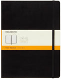 Black Ruled Notebook Soft Cover - Xlarge