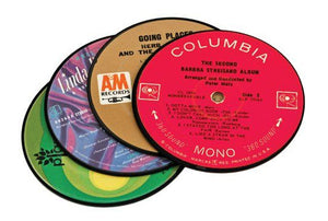 Recycled Records Coasters Set