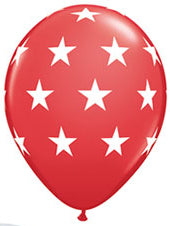 Red and white stars - Latex balloon