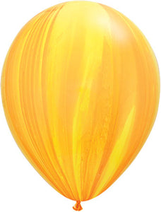 Yellow Orange Marble- Latex balloon