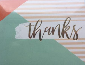 Color Blocks and Stripes - Thank you boxed notes