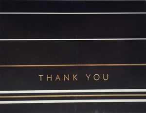 Classic Stripes Black - Thank you boxed notes