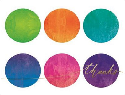 Multi Dot Aurora - Thank you boxed notes