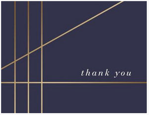 Navy and Gold - Thank you boxed notes
