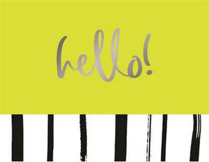 Neon Green Hello - Blank boxed notes