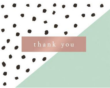 Polka Dots Solids - Thank you boxed notes