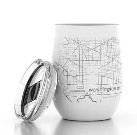 Washington DC Map Insulated Tumbler
